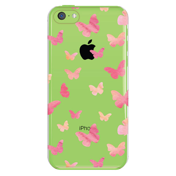 iPhone 5c Butterfly Transparent Cap Case