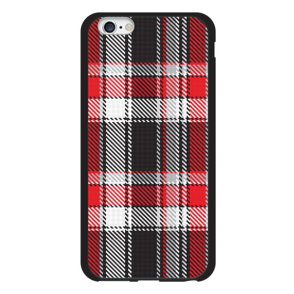 iPhone 6 and iPhone 6 Plus Red Black Plaid Adrian Bumper Case