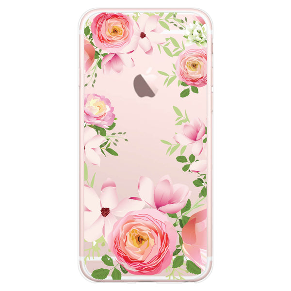 iPhone 7 and iPhone 7 Plus Pink Roses Bumper Case