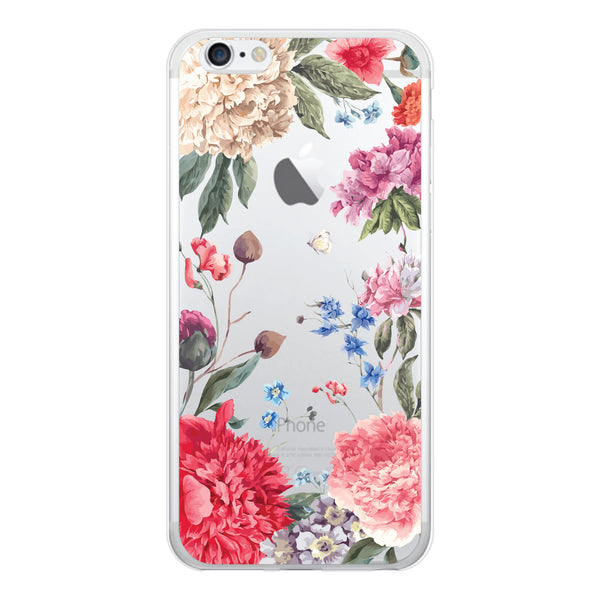 iPhone 7 and iPhone 7 Plus Peonies Floral Bumper Case