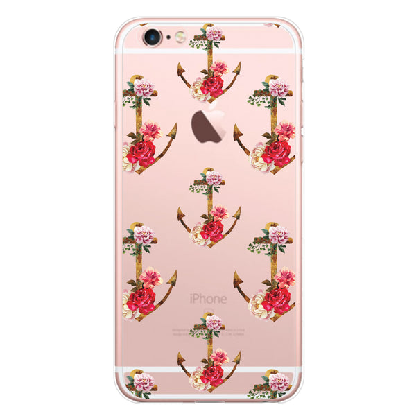 iPhone 7 and iPhone 7 Plus Floral Anchors Bumper Case