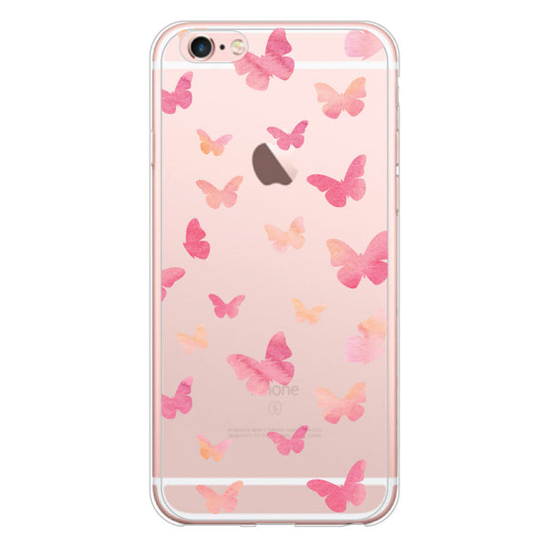 iPhone 6/6s and iPhone 6/6s Plus Butterfly Clear Bumper Case