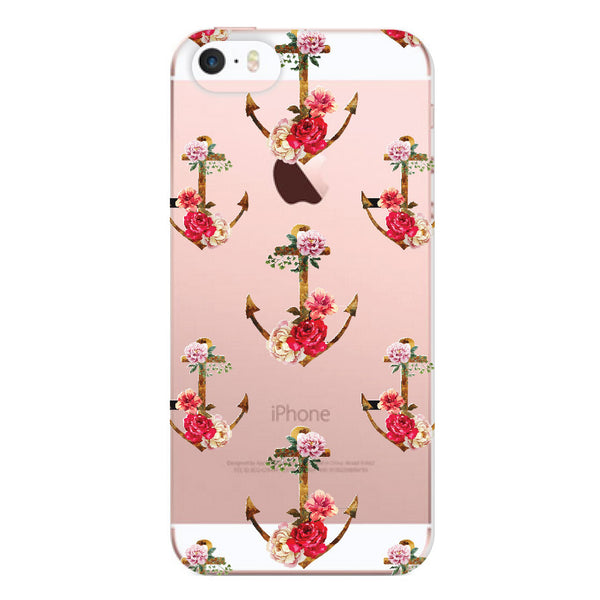 iPhone SE and iPhone 5/5s Floral Anchors Bumper Case