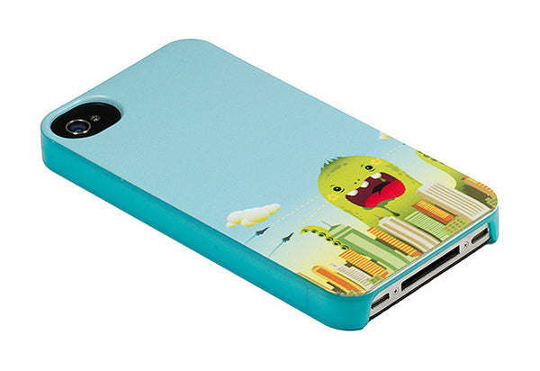 iPhone 4 and iPhone 4s Comic Monster Blue Case - Attack Invasion Case