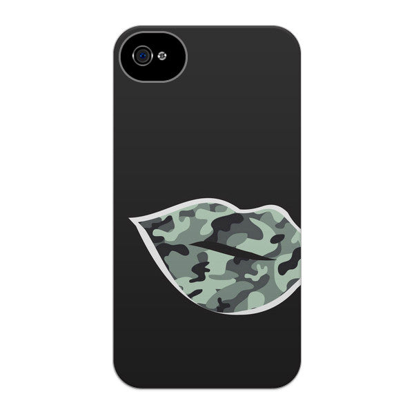 iPhone 4 and iPhone 4s Camouflage Lips Case