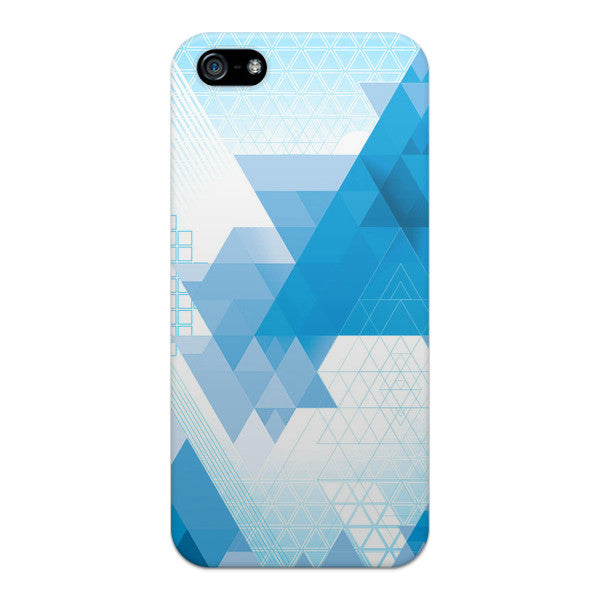 iPhone 5 and iPhone 5s Geometric Blue Abstract Transparent Case - Theory Abstract Case