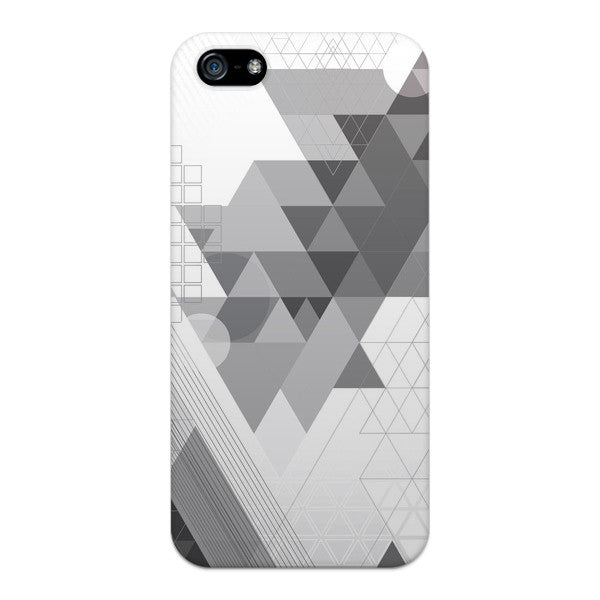 Iphone 5 And Iphone 5s Geometric Gray Abstract Transparent Case