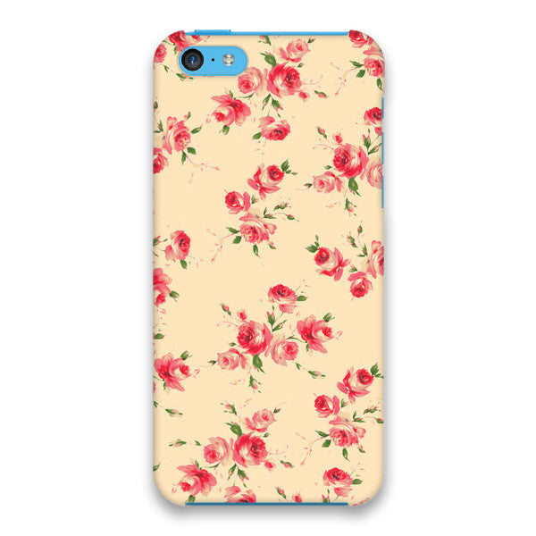 iPhone 5c Ivory Red Roses Cap Case