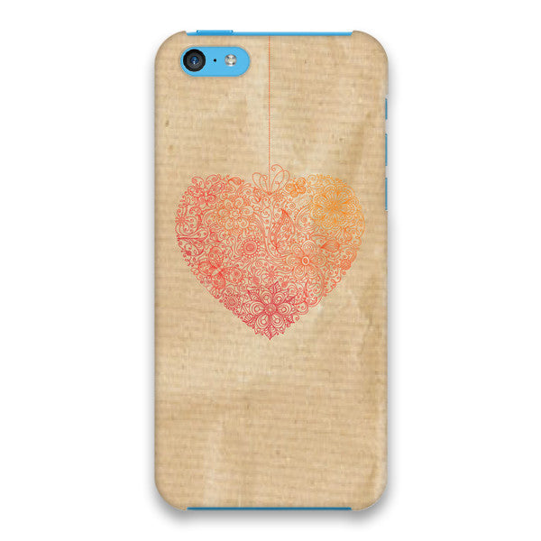 iPhone 5c Heart Lace Cap Case