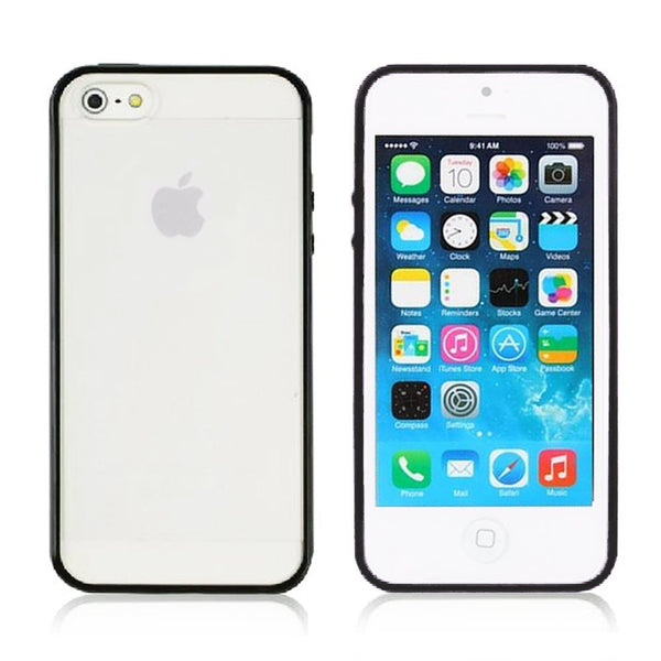 iPhone 5c Black Bumper Frosted Case