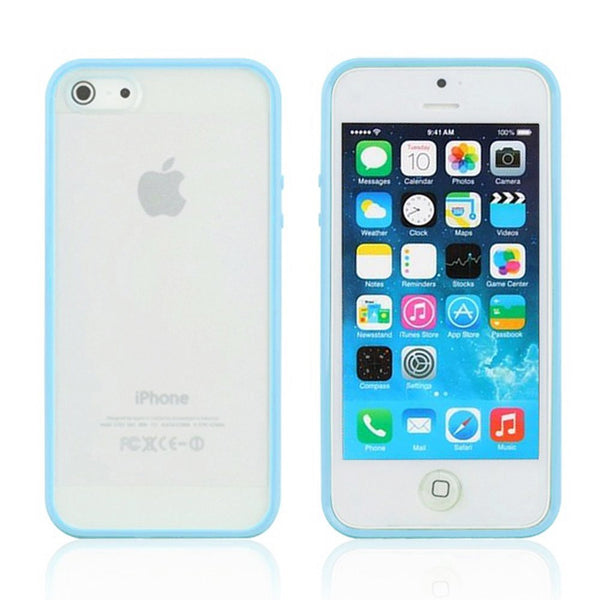 iPhone 5c Blue Bumper Frosted Case