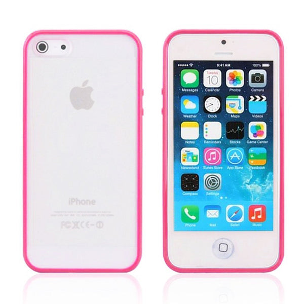iPhone 5c Hot Pink Bumper Frosted Case