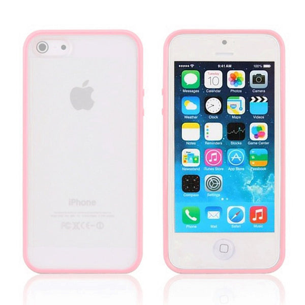 iPhone 5c Pink Bumper Frosted Case
