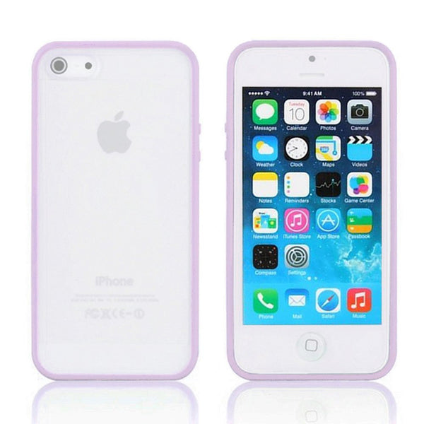 iPhone 5c Purple Bumper Frosted Case