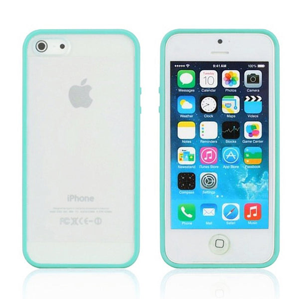 iPhone 5c Turquoise Bumper Frosted Case