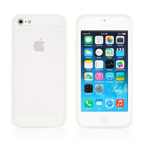 iPhone 5c White Bumper Frosted Case