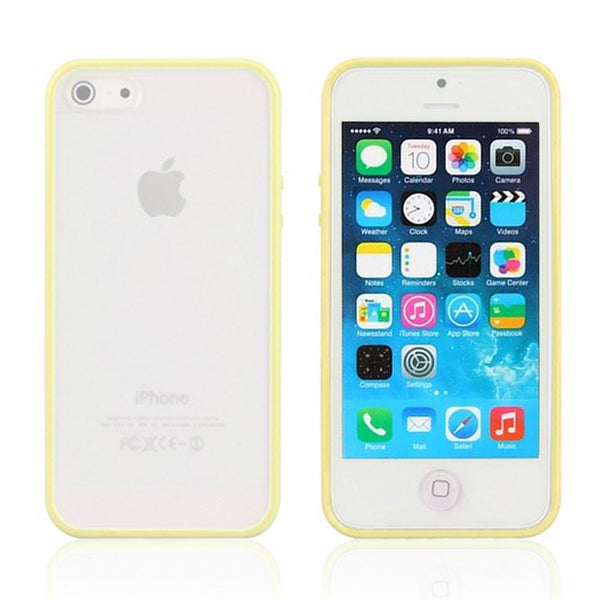 iPhone 5c Yellow Bumper Frosted Case