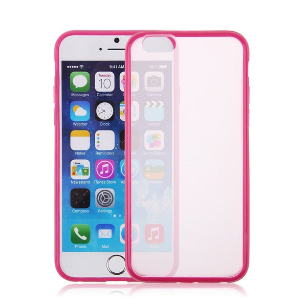 iPhone 6/6s and iPhone 6/6s Plus Hot Pink Bumper Frosted Case