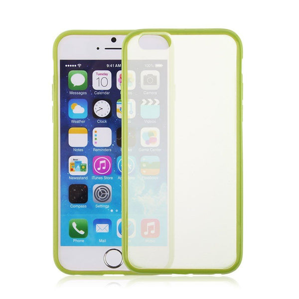 iPhone 6 and iPhone 6 Plus Lime Green Bumper Frosted Case