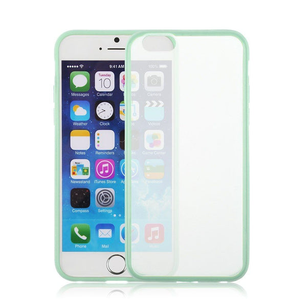 iPhone 6 and iPhone 6 Plus Mint Green Bumper Frosted Case