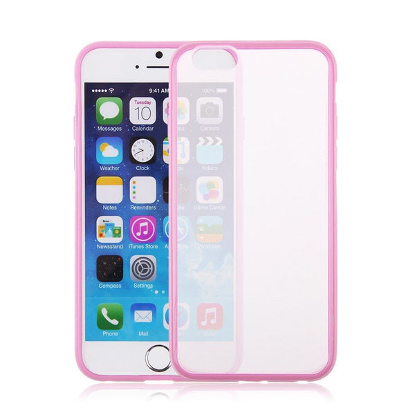 iPhone 6 and iPhone 6 Plus Pink Bumper Frosted Case