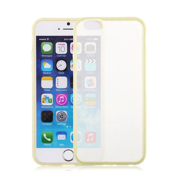 iPhone 6 and iPhone 6 Plus Yellow Bumper Frosted Case