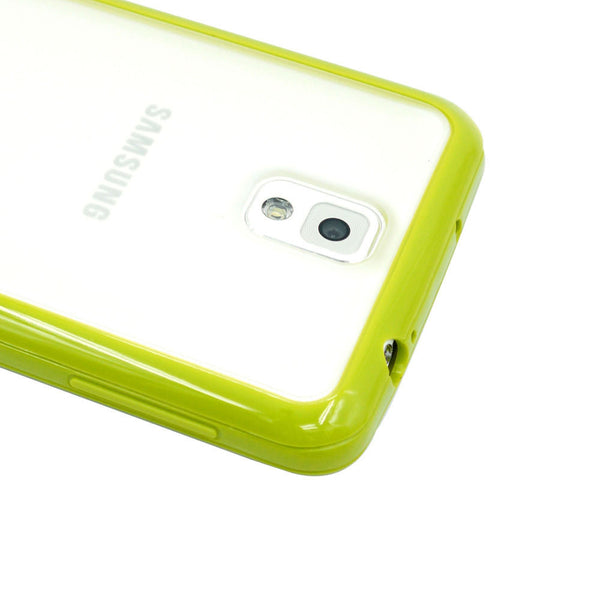 Samsung Galaxy Note 3 Lime Green Bumper Frosted Case