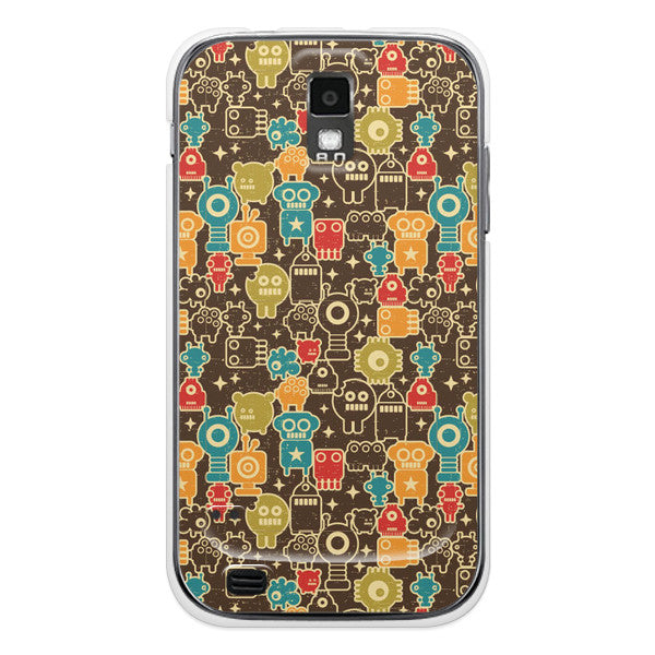 T-Mobile Samsung Galaxy S2 Robot Comics Orage Case - Attack Monstabots Case