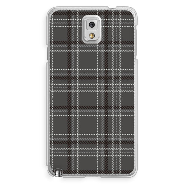 Samsung Galaxy Note 3 Black Gray Plaid Case