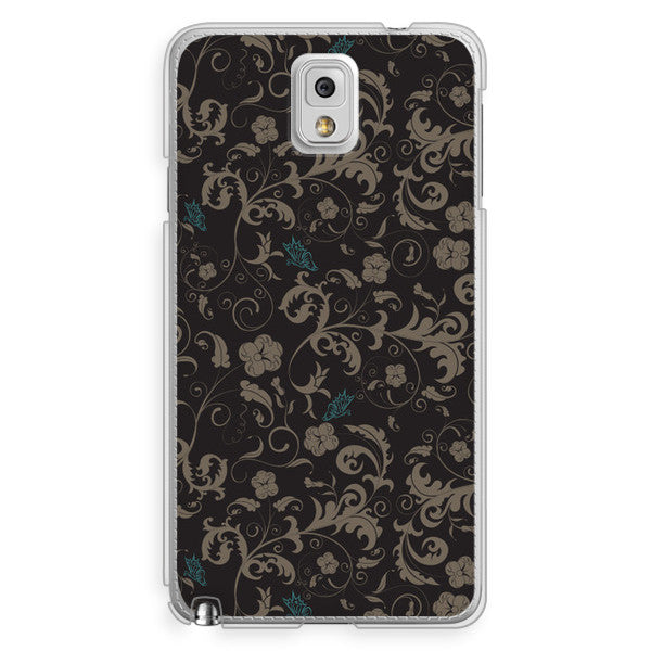 Samsung Galaxy Note 3 Black Floral Case