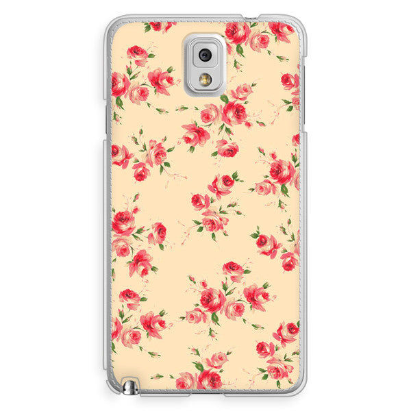 Samsung Galaxy Note 3 Ivory Floral Case