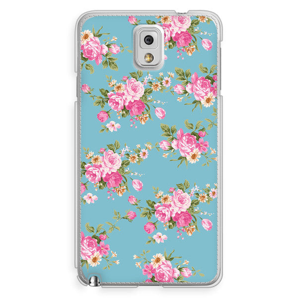 Samsung Galaxy Note 3 Blue Floral Case