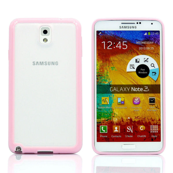 Samsung Galaxy Note 3 Pink Bumper Frosted Case