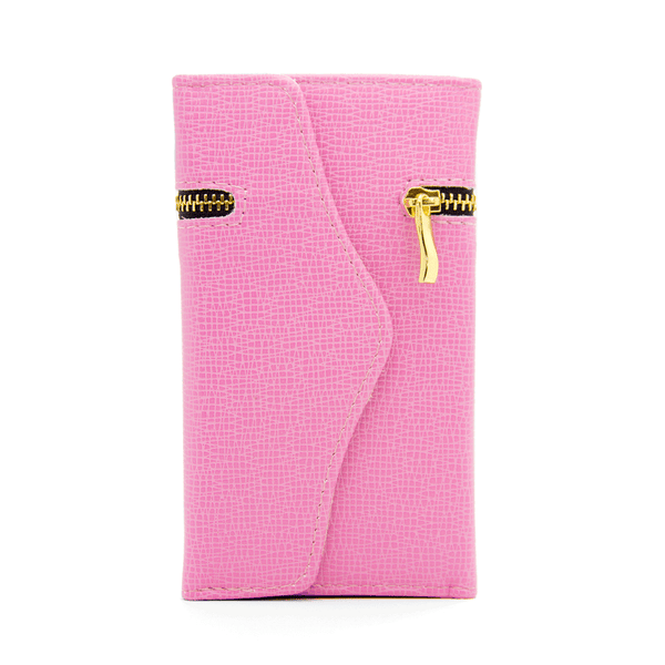 Samsung Galaxy S3 Wallet Case with Zipper in Pink