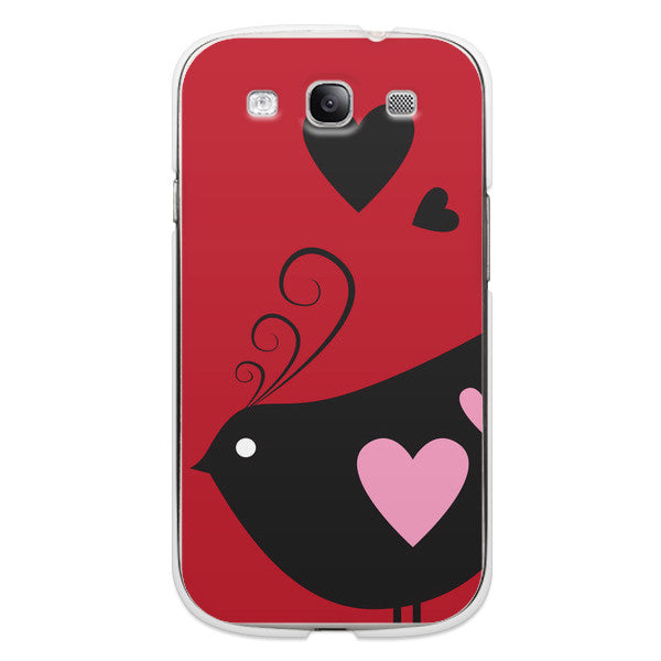 Samsung Galaxy S3 Bird Hearts Red Case - Ashby Chirp Case