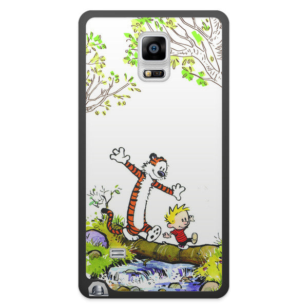 Samsung Galaxy Note 4 Calvin and Hobbes Nature Bumper Case
