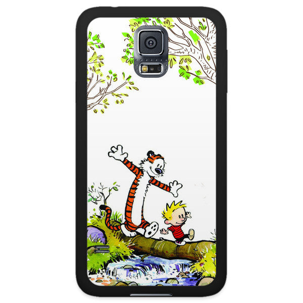 Samsung Galaxy S5 Calvin and Hobbes Nature Bumper Case