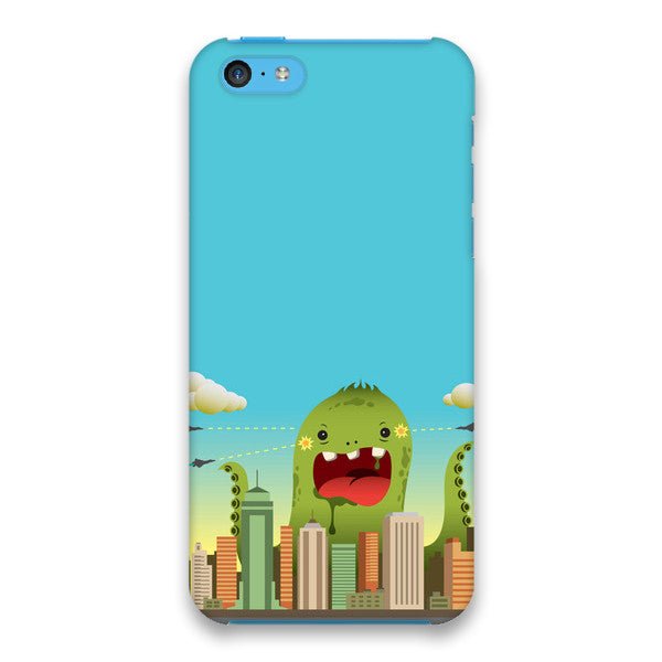 iPhone 5c Blue Comic Monster Case - Attack Invasion Case