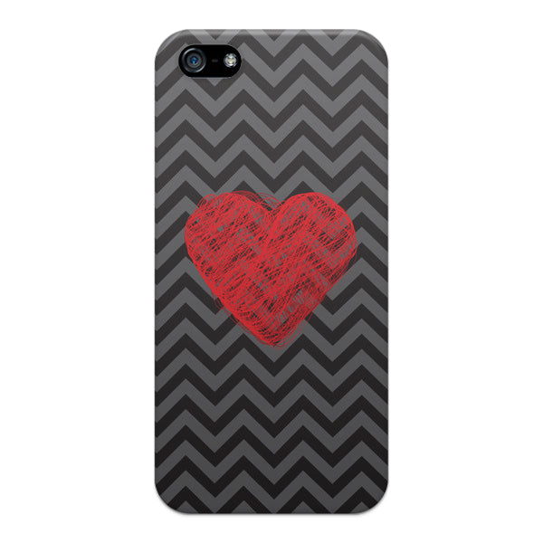 iPhone 5 and iPhone 5s Chevron Heart Case - Chevron Cupid Heart Case