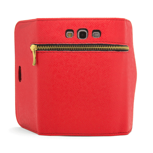 Samsung Galaxy S3 Wallet Case with Zipper in Red