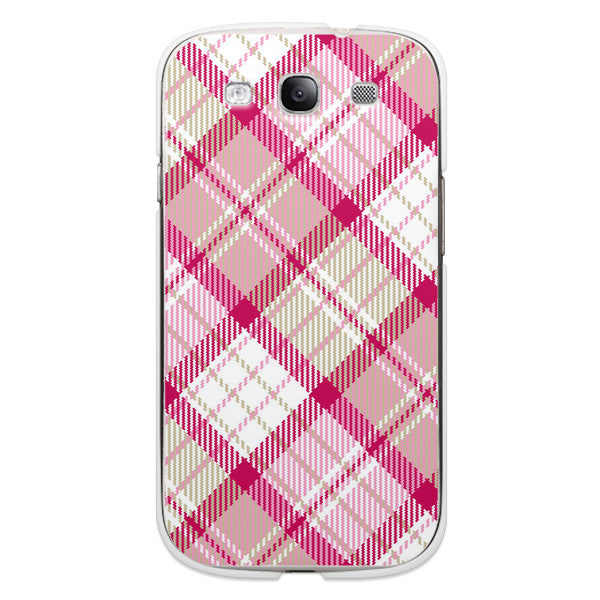 Samsung Galaxy S3 Pink Plaid Case - Plaid Megan Case