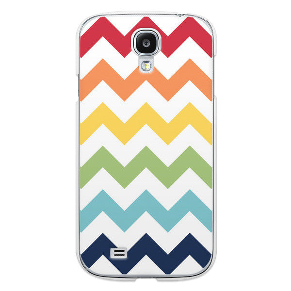 Samsung Galaxy S4 Rainbow Chevron Case
