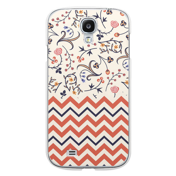 Samsung Galaxy S4 Floral Chevron Case - Chevron Tessa Case