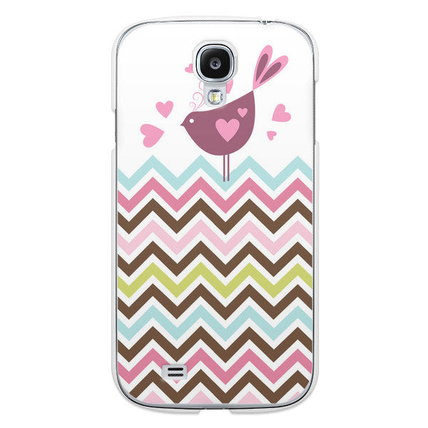 Samsung Galaxy S4 Rainbow Birds Case - Chevron Veris Case