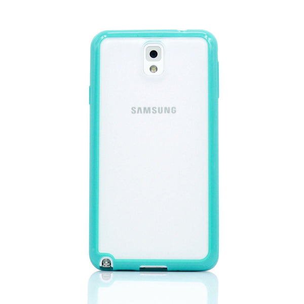 Samsung Galaxy Note 3 Teal Turquoise Bumper Frosted Case