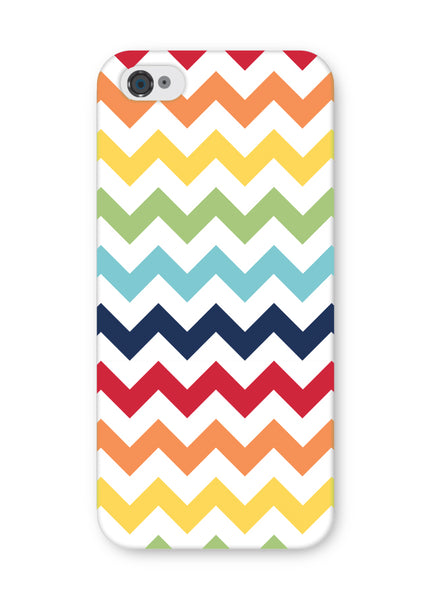 iPhone 5 and iPhone 5s Rainbow Chevron Case by Wittlebee