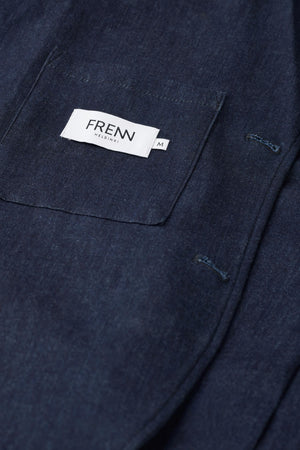 FRENN Jere GOTS organic cotton denim jacket indigo blue