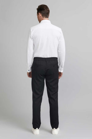 Load image into Gallery viewer, FRENN comfortable Seppo wool blend trousers black