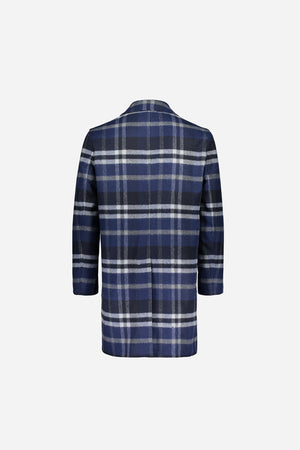 Load image into Gallery viewer, FRENN Pyry wool checked coat blue