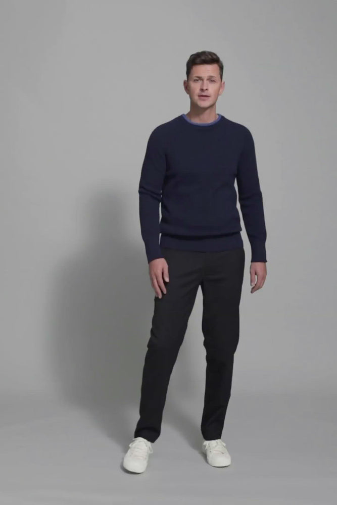 Load and play video in Gallery viewer, FRENN Esa extra fine merino wool pullover blue